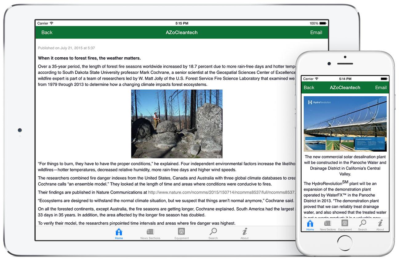 AZoCleantech by AZoNetwork App screenshots