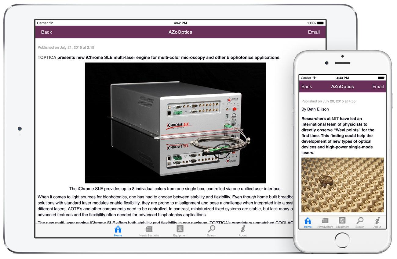 AZoOptics by AZoNetwork App screenshots