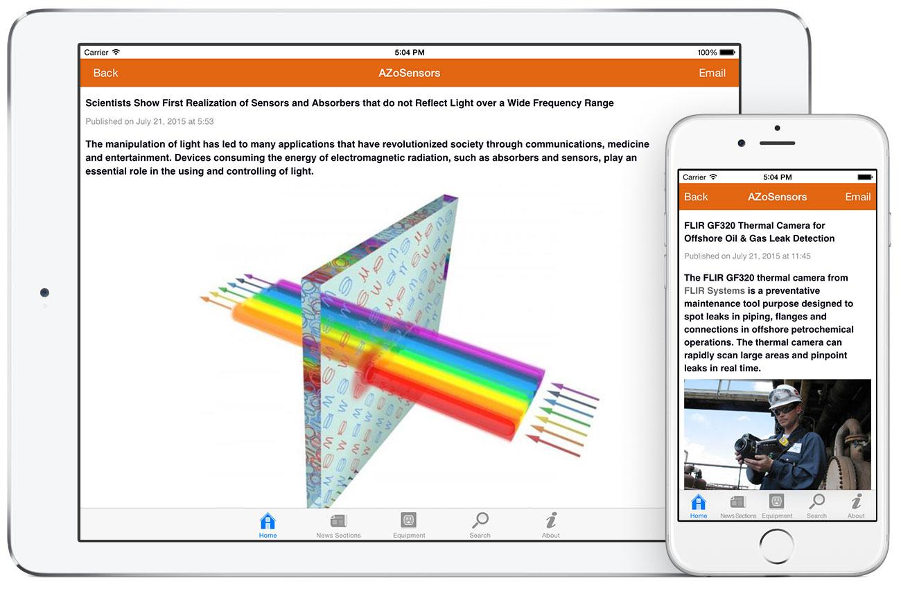 AZoSensors by AZoNetwork App screenshots