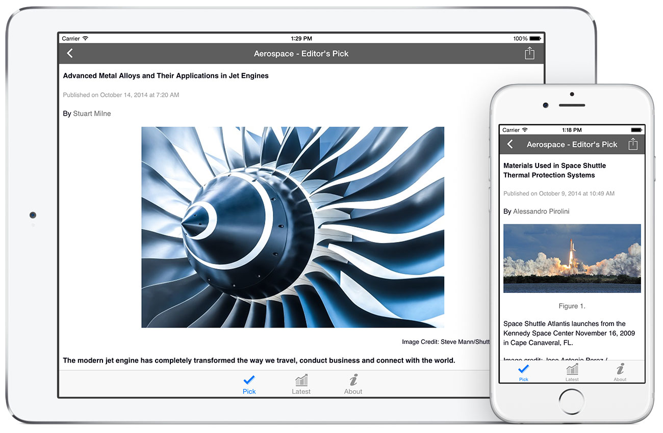 Aerospace by AZoNetwork App screenshots