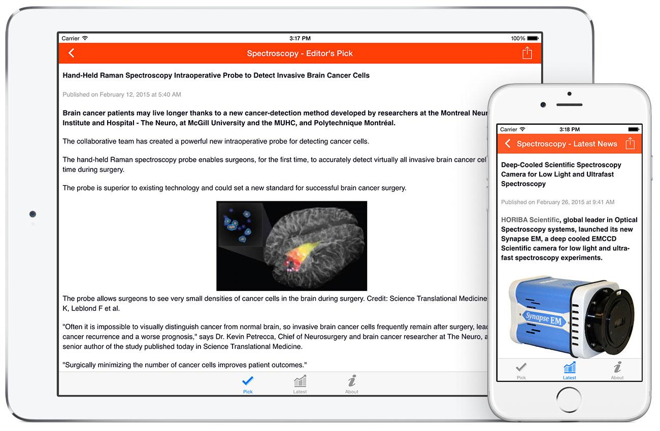 Spectroscopy by AZoNetwork App screenshots