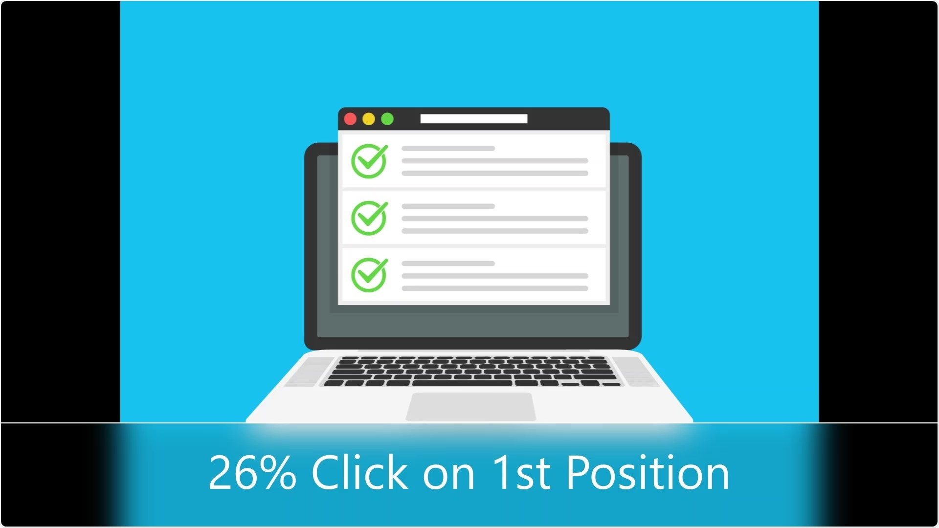 26% of searchers click on the 1st result