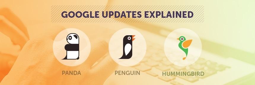 Google Updates Explained - Panda, Penguin and Hummingbird