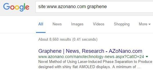 Graphene Site Search
