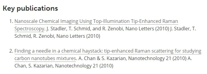 Key Publications