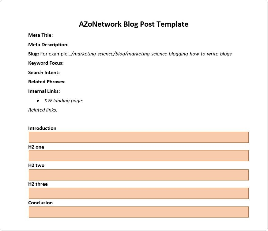 AZoNetwork Blog Post Template