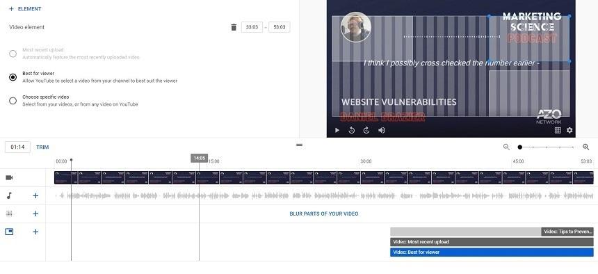 Youtube Video Editor comparison with vimeo